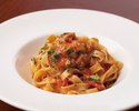 Crab and tomato crean sause fettuccine