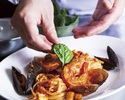 Linguine alla Pescatora with shrimps and seafood