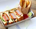 【Go To Eatキャンペーン テイクアウトメニュー】阿波美豚のフィレカツサンド&ソフトドリンクセット(お食事券2枚)