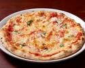 【テイクアウト20%オフ】トマトとバジルのシンプルなピッツァ