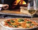 【テイクアウト】トマトソースとバジルのシンプルなピッツァ