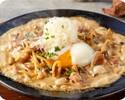 もちもち太麺生パスタ:ポルチーニ茸と炭焼ベーコンのクリーム