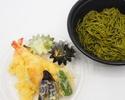 【天心テイクアウト&デリバリー】天ぷら蕎麦(茶蕎麦)