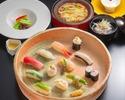 【ランチ・ディナー】魚貝と旬野菜の鮨コース