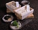 【Japanese Restaurant Kozue】 2 kinds of soba noodles, soba broth, leeks, dried seaweed, wasabi, sesame (for 2 people)