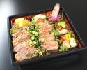 限定販売【夜もテイクアウトOK】WEB予約がオトク♪特選牛ステーキ弁当