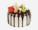 Hazelnut Profiterole Cake