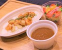 Seafood curry (with salad)