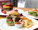 Burger Set|Choose your favorite burger with French fries, soup and strawberry dessert platter