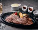 ◆【記念日ステーキコース】全4皿 メッセージでお祝い&記念写真付き
