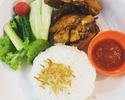 [外卖] Ayam Goreng Lala面包[炸鸡和生蔬菜]和米饭