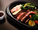 【TAKE OUT】 自家製熟成牛ステーキ リングイネ添え(生パスタ)有機野菜を添えて