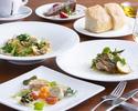【Lunch A】前菜盛り合わせ、選べるパスタ、メインディッシュ、ドルチェの全4品