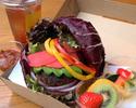 【期間限定10%OFF テイクアウト】 10種の九州産野菜のヴィーガンバーガー(限定10食)
