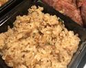 【鉄板焼 下野】 ステーキ弁当のご飯をガーリックライスに変更
