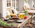 ビアガーデンB 60分小皿料理全15種類海老ギョプサル、フォンデュチキンも食べ放題