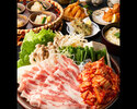 イベリコ豚のスタミナ豚キムチ鍋コース 3000円(全7品)