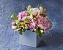 【オプション】バースデーパッケージB  ケーキ + お花(卓上) + ウエルカムドリンク + 記念写真