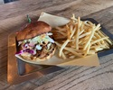 BBQ Pulled Pork and Coleslaw Sandwich on Potato Buns
