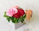 ◆大人/平日【5月末まで★母の日×お花のプレゼント】乾杯酒&感謝を伝えるメッセージ付きディナーブッフェ