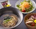 かけ蕎麦とミニ海鮮バラちらしのセット