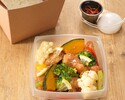 [Take out] Rice bowl of horse salt chicken with hot spring egg Black pepper accent
