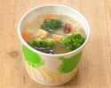 [Take out] Clear minestrone with plenty of vegetables