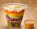 [Take out] DLT jar salad (soybeans, lettuce, tomatoes) with spice-scented cob dressing