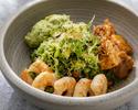 Green Coriander Rice - Scrambled Egg - Garlic Prawn - BBQ Chicken