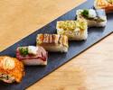 【込】炙り寿司6貫コース 全7品