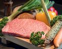 [限時優惠]乾杯香檳+ 1個開胃菜+ A5最好的神戶牛肉套餐8道菜