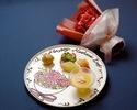 【席のみのご予約】+デザートプレート+花束(ソープフラワー)のプレゼント(母の日におすすめ)