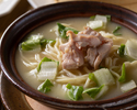 【Dinner 5 Courses】Enjoy Barbecued pork fried rice or Chicken collagen noodle soup