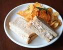 【TakeOut】USC Tuna Sandwich, Paprika&Red Onion Mayonnaise, Basil, Fennel, Potato Chips