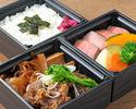 霜降りステーキ(ロース)&すき焼き弁当