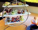 【アフタヌーンティー】八女抹茶と季節フルーツを使ったセイボリー&スイーツ+充実のドリンクと一緒に