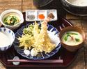 【食後に選べる和茶&わらび餅付き】ちょっぴり贅沢、大海老と季節野菜の天ぷら御膳