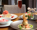【5/8, 9限定】母の日スペシャルランチ スパークリングワイン+前菜+スープ+メインプレート+デザート