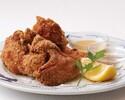 【テイクアウト】三笠会館伝統の味 骨付き鶏の唐揚げ(6個) 胡麻塩&マスタード添え