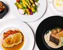【LUNCH COURSE】前菜2種、選べるメインなど全4品PRIX FIXE COURSE + カフェフリー
