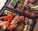 【店舗受取】特選肉と豪華海鮮のオードブル2段セット(4~5名様)