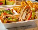 【TAKE OUT】甲斐路軍鶏ムネ肉とハーブ卵のクラブハウスサンドイッチ