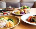 【朝食プレート】サラダブッフェとドリンク付き