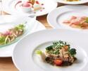 【UvaRara 6月の旬食材の特製ディナーコース『ラ・チェーナ』】前菜2品・パスタ料理・Wメイン・デザート盛合せ等全6品のイタリアンディナー