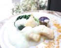 [休日]ランチコース  魚料理&肉料理のWメインディッシュと6種類の季節のデザートなど 全5品