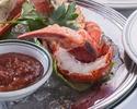 【NEW YORKコース】ロブスターを使用した前菜、スープや選べるメインのステーキなど 全5品