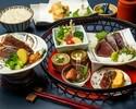 ◆土佐お食事プラン◆ かつをの藁焼き塩たたきと牛みすじの藁焼き