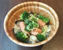 テイクアウト牡蠣とサーモン、さばのちらし丼