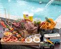 【ランチBBQプラン】贅沢♪5種のお肉とシーフードも楽しめるプレミアムBBQプラン (飲み放題付き)¥5,500