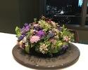 【プロポーズプラン】*窓際席確約 ディナー+乾杯ドリンク+特製ケーキ+花束・リングピロー